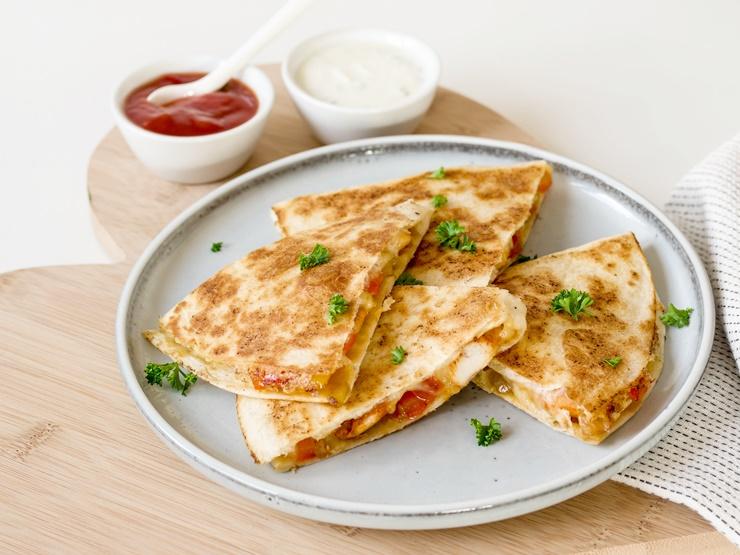 Hähnchen-Quesadillas